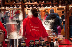 Mulled wine at the christmas market Stock Photos