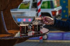 Mulled wine at christmas royalty free stock photos