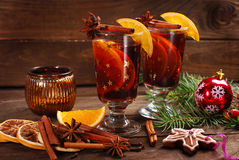 Mulled wine for christmas Stock Image