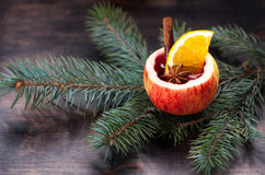 Mulled wine or cider Royalty Free Stock Photography