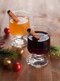 Mulled wine or cider Stock Images
