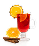Mulled wine with cinnamon Royalty Free Stock Image