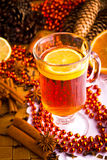 Mulled wine with cinnamon sticks Stock Photos