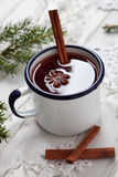 Mulled wine. With cinnamon sticks Stock Images
