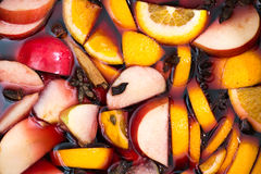 Mulled wine closeup macro Stock Photography