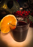 Mulled wine. In a cold winter evening Stock Image