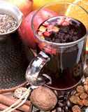 Mulled wine components Royalty Free Stock Photo