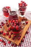 Mulled wine with cranberry and spices Stock Photography
