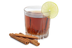 Mulled wine in cup Royalty Free Stock Photo