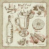 Mulled wine design elements Royalty Free Stock Photo