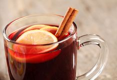 Mulled wine detail Stock Photo
