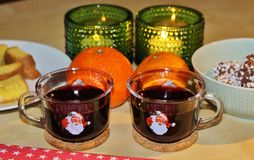 Mulled wine evening Royalty Free Stock Photos