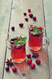Mulled wine with fresh cranberry Royalty Free Stock Photo