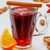 Mulled Wine (Glühwein, Glögg). Every country has its own way of preparing this tasty beverage and so its taste may vary slightly and also its name (mulled wine Stock Photo