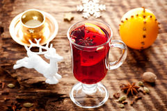 Mulled wine glass Stock Image
