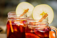 Mulled wine in glass Royalty Free Stock Photo