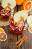 Mulled wine in glass Stock Photography