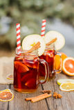 Mulled wine in glass Stock Photos