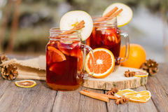 Mulled wine in glass Royalty Free Stock Photography