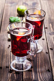 Mulled wine in the glasses Royalty Free Stock Photo