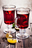 Mulled wine in the glasses Royalty Free Stock Image