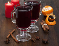 Mulled wine in glasses Royalty Free Stock Photography