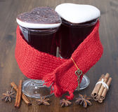 Mulled wine in glasses Royalty Free Stock Photo