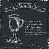Mulled wine. Hand drawn illustration Royalty Free Stock Photo