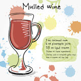Mulled wine. Hand drawn illustration Royalty Free Stock Image