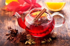 Mulled wine.  horizontal Royalty Free Stock Photos