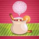 Mulled wine illustration Stock Photos