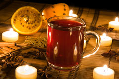 Free Mulled Wine In Candle Light Royalty Free Stock Images - 12971549