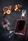 Mulled wine ingredients chalk board Stock Image