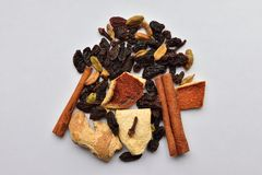 Mulled wine ingredients Royalty Free Stock Images