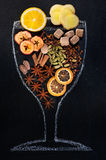 Mulled wine ingredients Stock Photo