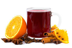 Mulled wine isolated Royalty Free Stock Image