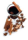 Mulled wine, isolated Royalty Free Stock Image