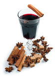 Mulled wine, isolated Royalty Free Stock Photography