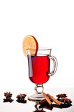 Mulled wine isolated Royalty Free Stock Photo