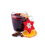 Mulled wine isolated on white Royalty Free Stock Photos