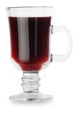 Mulled wine isolated on white Royalty Free Stock Image