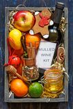 Mulled wine kit Royalty Free Stock Images