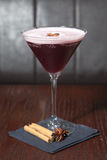 Mulled wine Martini. Cocktail for special occasion Stock Photography