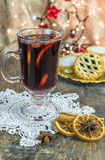 Mulled wine and mince pies Royalty Free Stock Photos