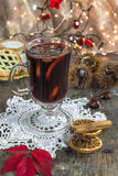 Mulled wine and mince pies Royalty Free Stock Image
