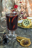 Mulled wine and mince pies Stock Image