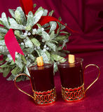 Mulled Wine with Mistletoe Royalty Free Stock Photos