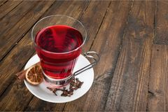 Mulled wine. Tea wine mulled heat cinnamon winter stock images