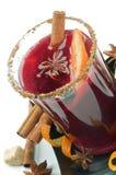 Mulled Wine och kryddor Royaltyfria Bilder