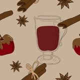 Mulled wine pattern Stock Photo